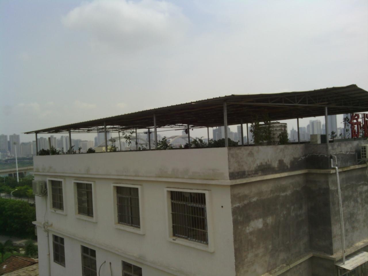 楼顶彩钢雨棚设计图分享展示图片