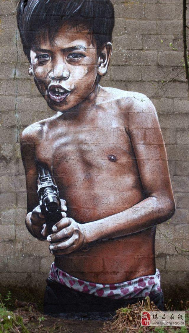 个性有爱的街头爆笑涂鸦