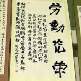 """""""五一杯""""书法展今日在县行政中心一号楼一楼大厅举行"""