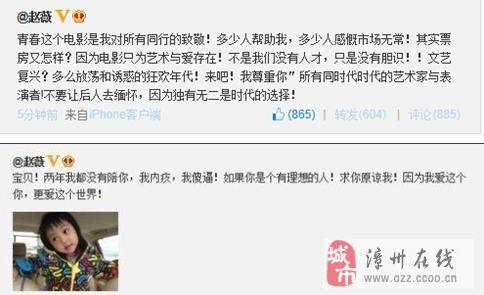 揭赵薇为何微博中爆粗骂自己傻逼?(图)