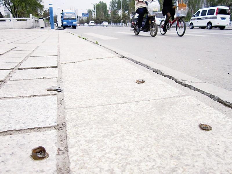 """钉子螺栓""""暗算""""路人拆卸之后的遗留物应及时进行处理"""