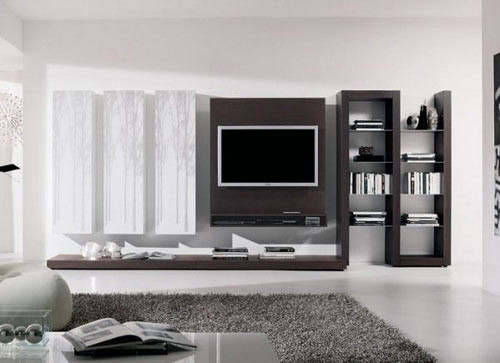 [分享]12款时尚客厅电视背景墙创意设计