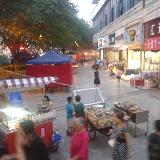 蓬溪步行街依然小摊贩到处都是