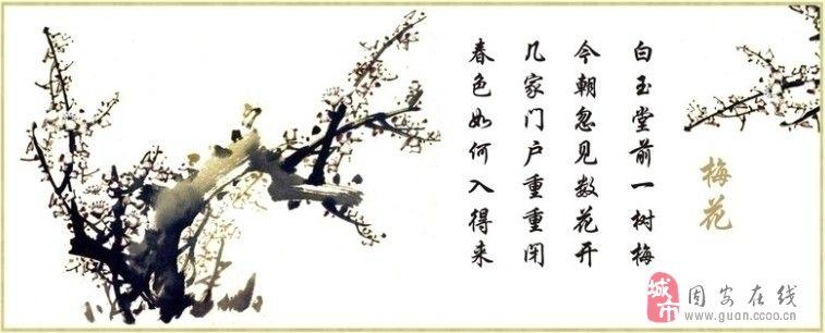 王安石诗配梅花简笔画步骤