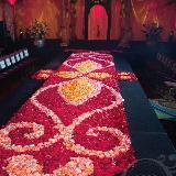 浪漫芳香铺路 婚礼上的花瓣创意