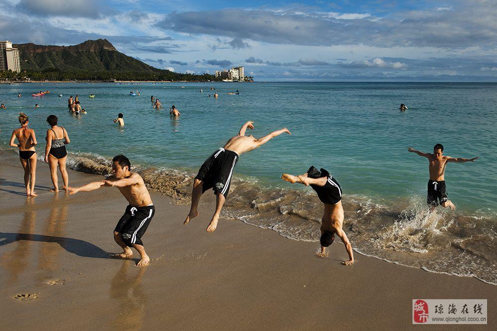 海边沙滩风景微信图片