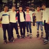 我在学校的轮滑队