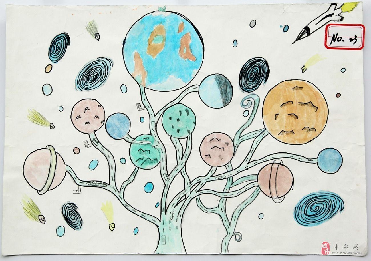 《绿色星球》张欣_丰都儿童绘画网络投票_丰都网图片