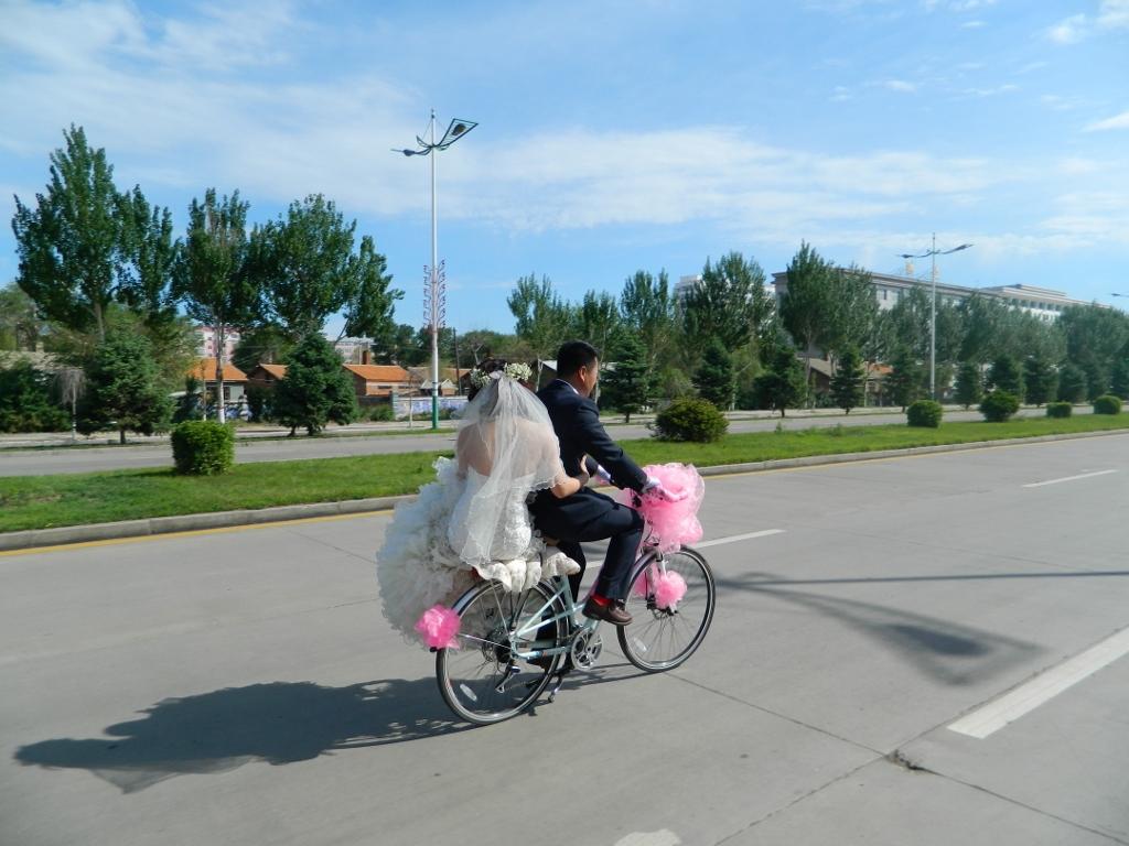 金沙娱乐自行车婚礼