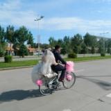 威尼斯娱乐自行车婚礼