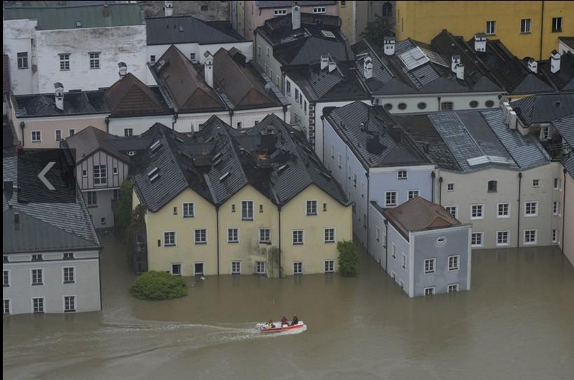 欧洲多国下暴雨造成洪灾