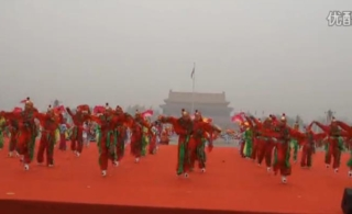 商河实验小学340余名师生北京天安门演出