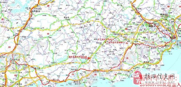 地图分享 > 汕湛高速公路地图全图  [分享]潮惠高速,汕湛高速 (609x