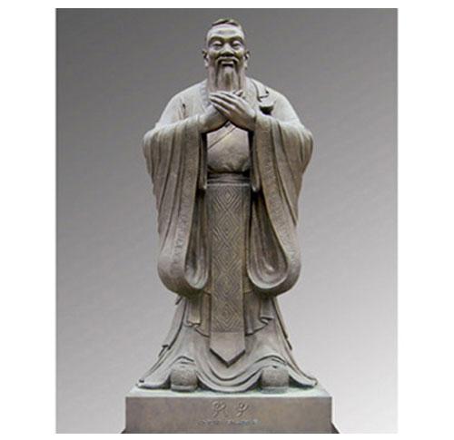孔子标准像全身铸铜像2米-20米