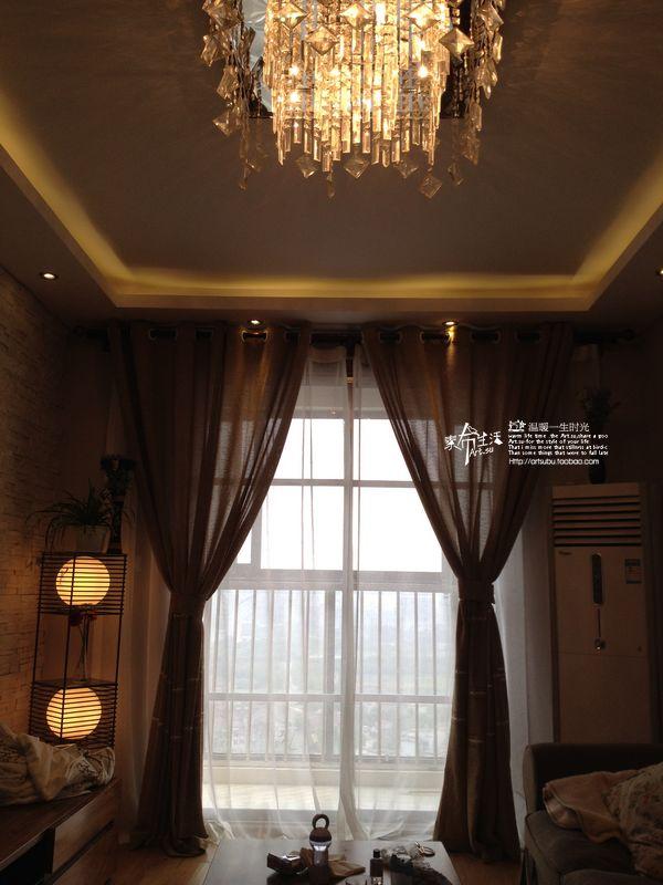 纯色 咖色雕花亚麻窗帘布料客厅卧室窗帘