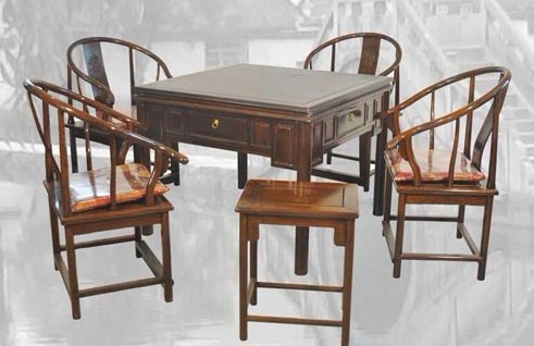 圈椅麻将桌