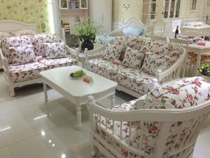 韩式田园实木沙发