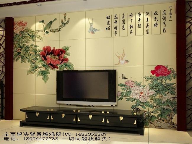 瓷砖雕刻背景墙图片