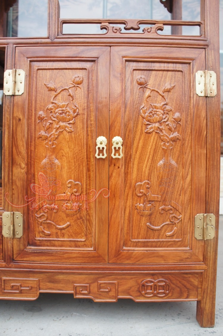 中式仿古红木家具金钱博古架