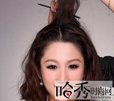 短发新娘也可以优雅上阵 传授短发新娘的盘发教程图片