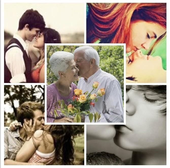 50岁的男人亲了女人一下;