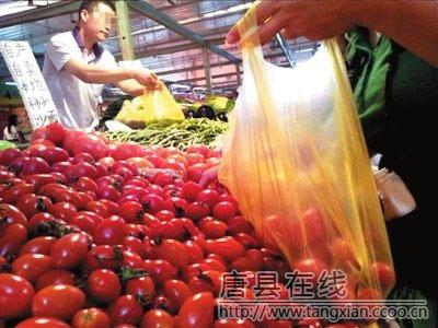 限塑令施行4年名存  ��亡 9成菜�鲞`�送塑料袋