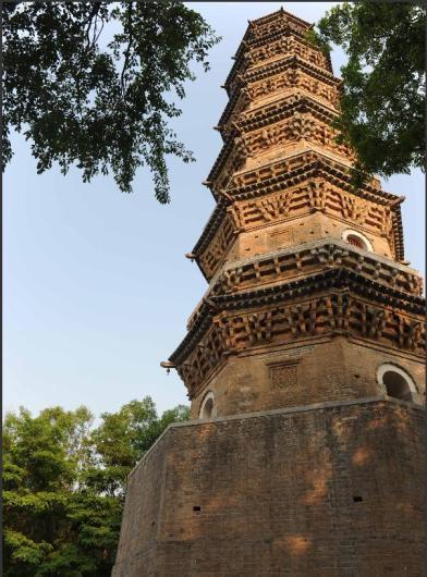 故城庆林寺古塔修缮完成图片