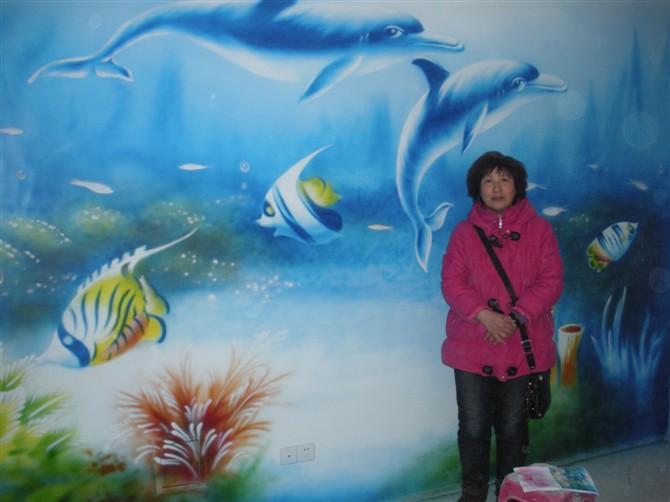 我们的手绘墙画,采用丙烯颜料