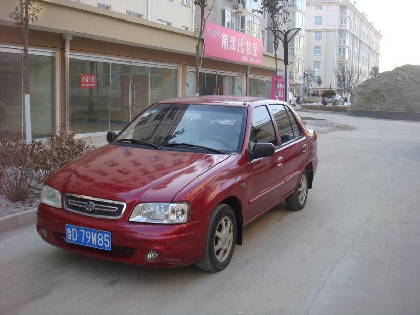 07年红色夏利 原车漆