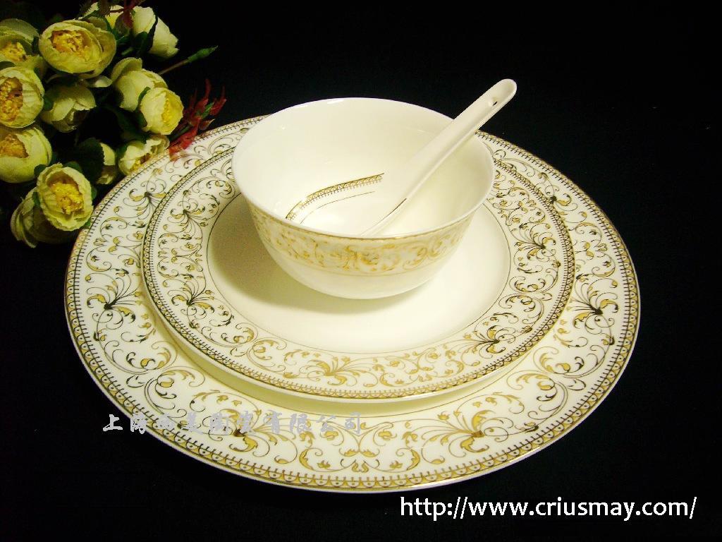 酒店陶瓷餐具批�l定做上海西美陶瓷