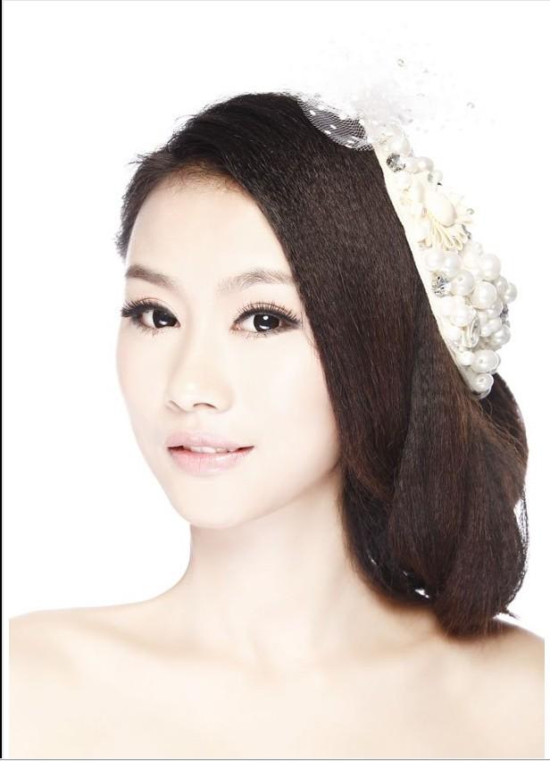 中式短发新娘发型图片大全