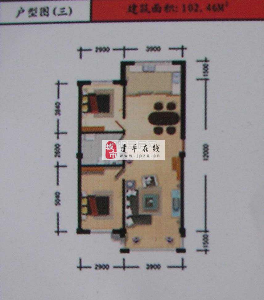 住宅 2室2厅1卫