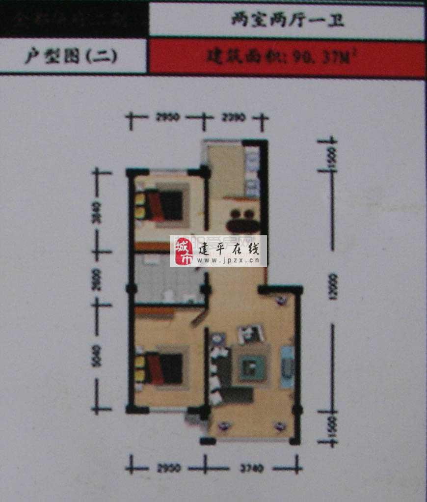 住宅 3室2厅1卫