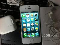 女生用的带保白色苹果iPhone48GB国行正品