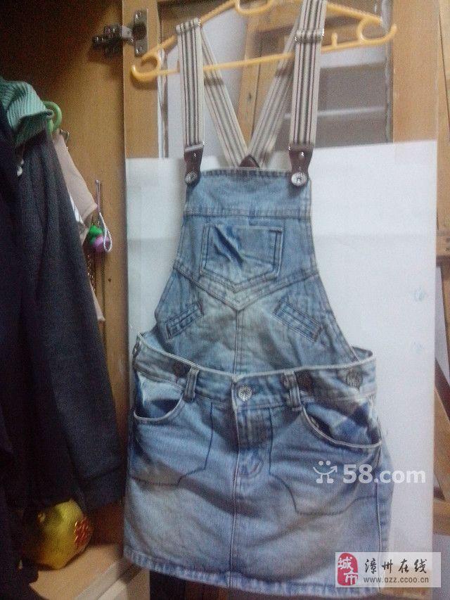 吊带牛仔裙,可2穿