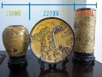 九、清明上河圖瓷瓶一組低售530元全新