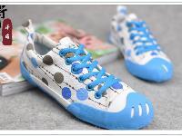 手绘 韩版/老国货2013新款女式手绘帆布鞋韩版女鞋低帮鞋