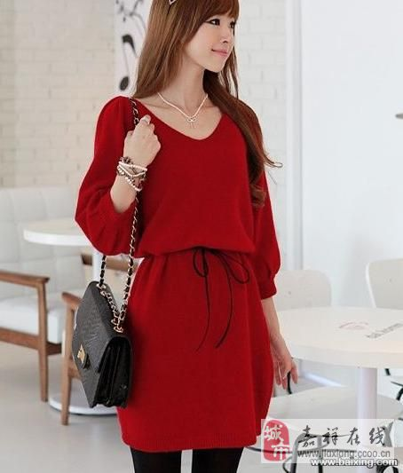 春季新品 韩国绒宽松款 舒适 打底连衣裙配腰带