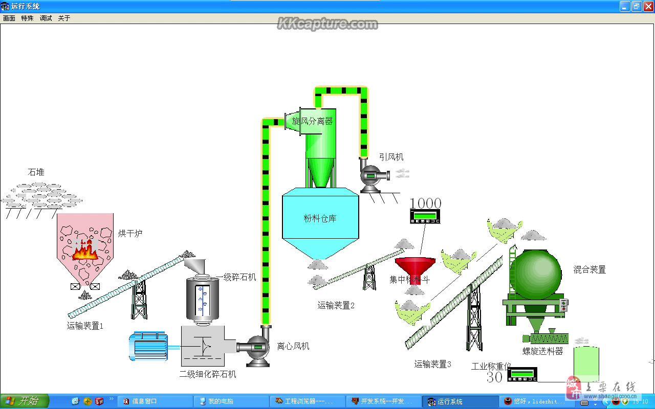 改造固引剂生产流水线(制沙流水线、固引剂球磨机)