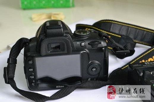 泸州泸县福集镇出售基本全新的尼康D3000单反相机