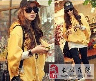 (轉讓)2013春裝新款韓版寬松蝙蝠衫連帽罩衫