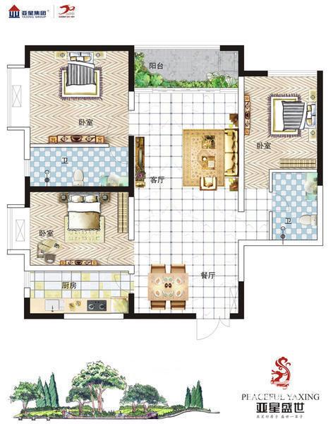 典 雅 三 房,3室2厅2卫,112.00平米(在售)