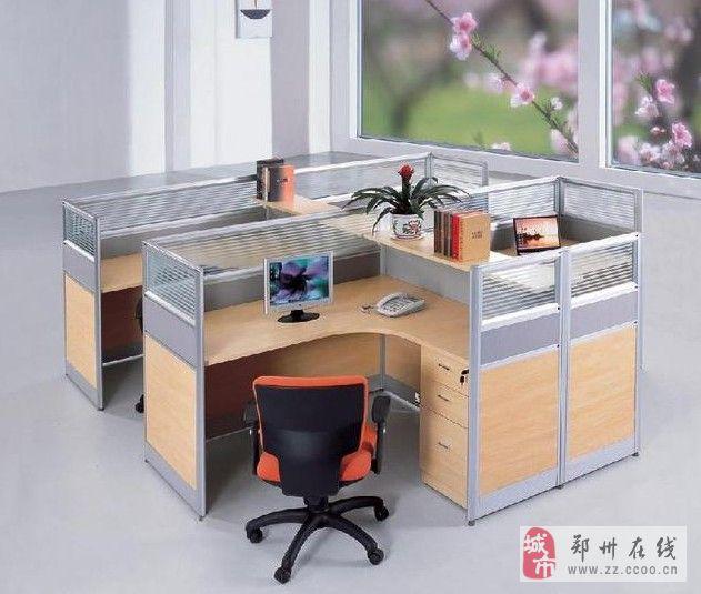 郑州最低价订做办公隔断桌屏风桌带屏风的办公桌
