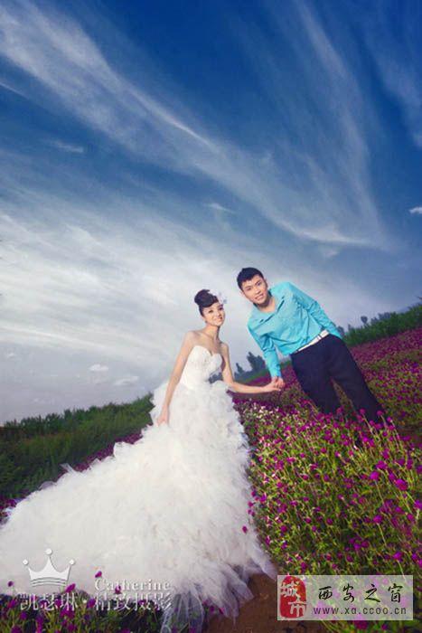 蓝色婚纱裙摆抠图素材