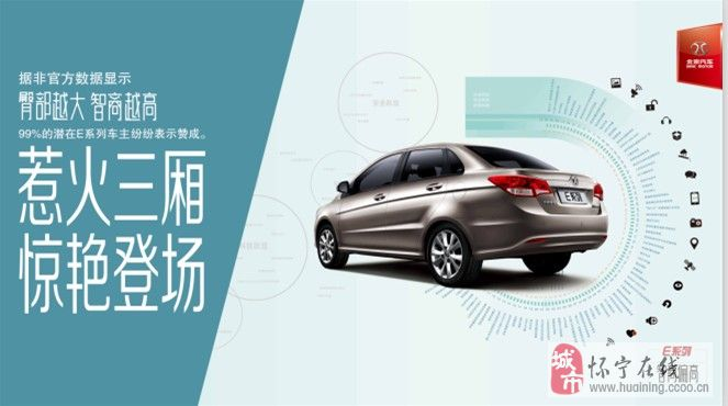 北京汽车E系列三厢即将上市了!