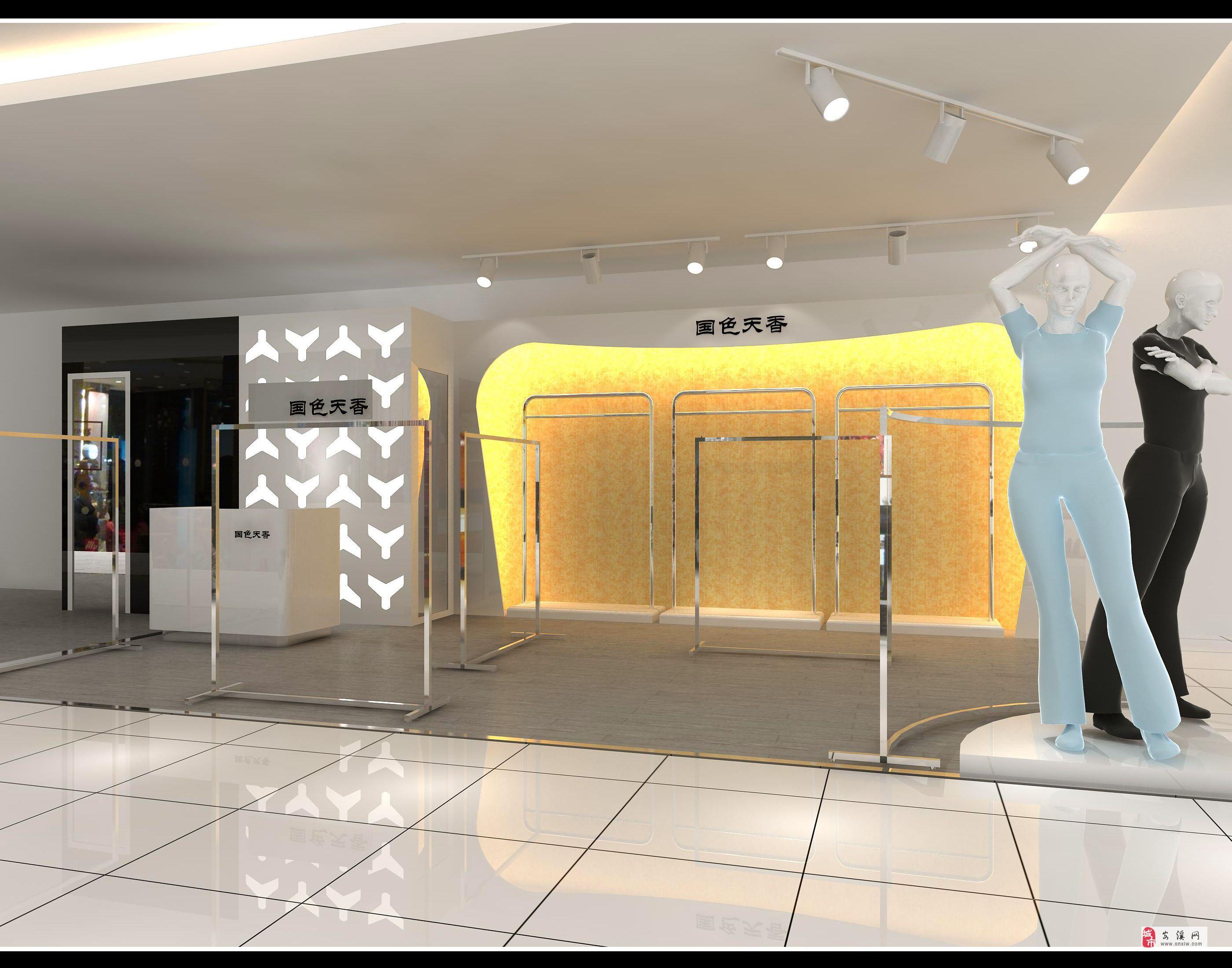 女装店货架,灯具,模特和衣架等转让,价格8000元