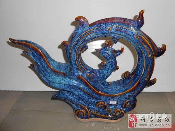 出售孔雀蓝钧瓷