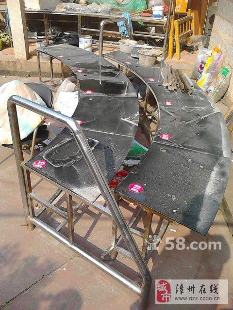 原网吧环形特色不锈钢钢化玻璃桌