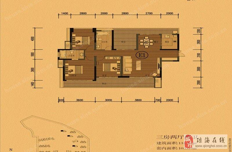房子4房平面设计图