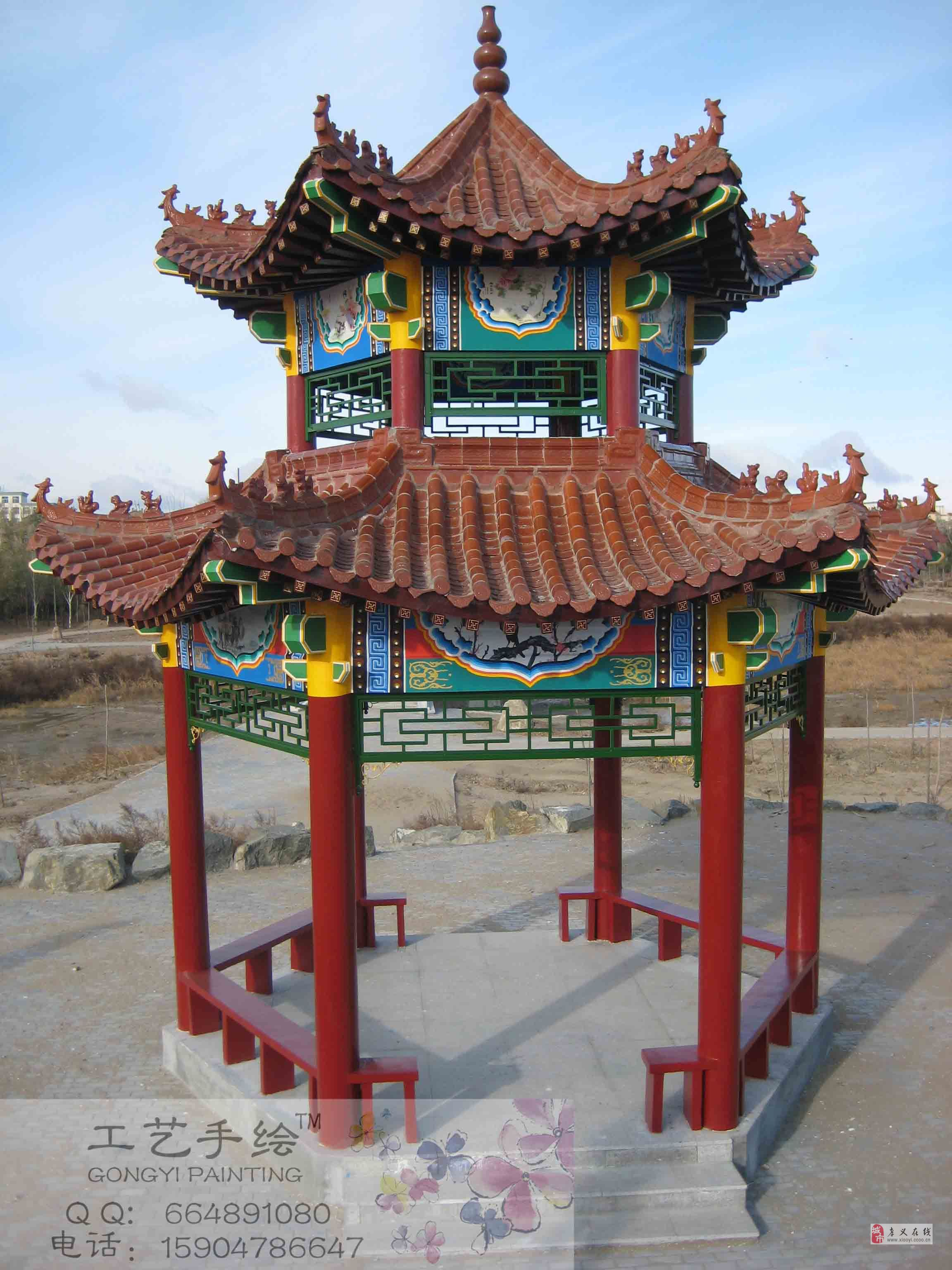 孝义古建筑彩绘,寺庙彩绘,牌楼亭台彩绘,室内外彩绘